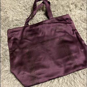 YSL dark purple tote